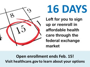 Countdown infographic end of open enrollment