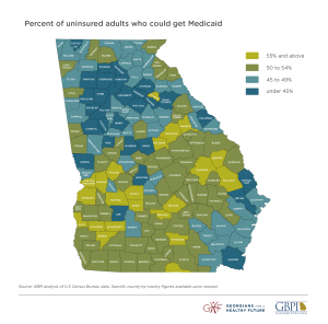 12_Percent Uninsured GA Map